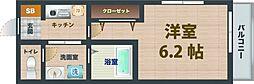 JR中央線 高円寺駅 徒歩9分の賃貸マンション 3階1Kの間取り