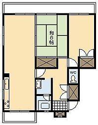 コーポ南宮崎[505号室]の間取り
