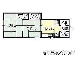 不動院前駅 2.5万円