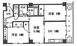 静岡県静岡市葵区大岩本町の賃貸マンションの間取り