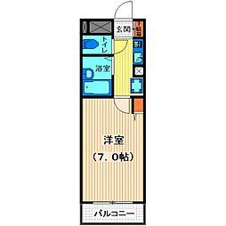 アビタシオン川越[4階]の間取り