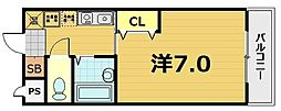 スターボード28[207号室]の間取り