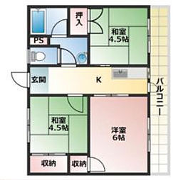 ガーデンハイツ飯坂1[5階]の間取り