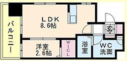 福岡県福岡市中央区草香江2の賃貸マンションの間取り