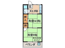 京都府京都市伏見区白銀町の賃貸マンションの間取り