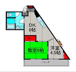 清和ハイツ[6階]の間取り