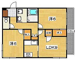 リード62[2階]の間取り