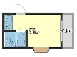 ラヴィータ岸和田[2階]の間取り