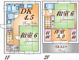 [一戸建] 兵庫県神戸市長田区二葉町10丁目 の賃貸【/】の間取り