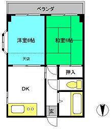 第3小久保マンション[3階]の間取り