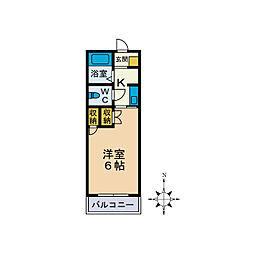 クレストハイム[2階]の間取り