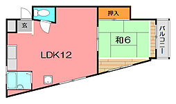 池田マンション[4階]の間取り