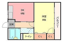 ローレル八尾本町[302号室]の間取り