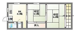 豊田マンション[3階]の間取り