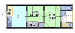 彦林荘[2階]の間取り