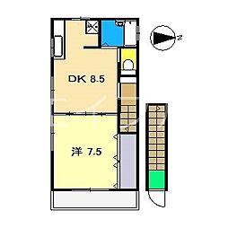 矢野コーポ[2階]の間取り