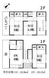 [一戸建] 東京都三鷹市井の頭2丁目 の賃貸【/】の間取り
