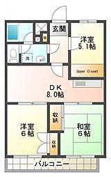 第2ゼルコバマンション[305号室号室]の間取り