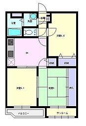 ユーミーマンションフェニックス[1階]の間取り