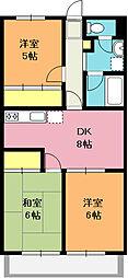 埼玉県上尾市春日1丁目の賃貸マンションの間取り