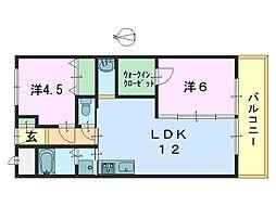 市役所前三和マンション[305号室]の間取り