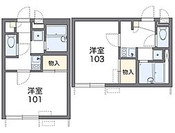 神奈川県川崎市高津区千年の賃貸アパートの間取り