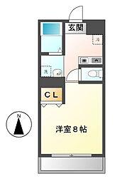御器所オリトマンション[3階]の間取り