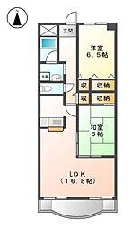 シャトーディネゾー[1階]の間取り