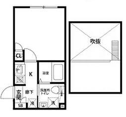 プロスペリティ・カーサ下北沢 3階1Kの間取り
