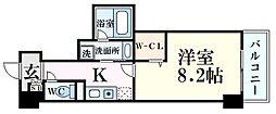 JR東海道・山陽本線 甲南山手駅 徒歩4分の賃貸マンション 6階1Kの間取り