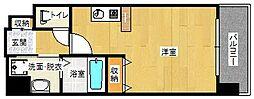 阪神本線 姫島駅 徒歩8分の賃貸マンション 5階ワンルームの間取り
