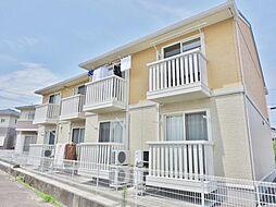 山梨県中巨摩郡昭和町清水新居の賃貸アパートの外観