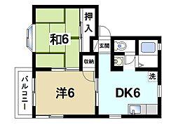 メゾン秋篠I[2階]の間取り