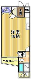 マンション旭町[3階]の間取り