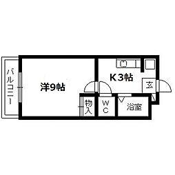 静岡県浜松市中区住吉4丁目の賃貸マンションの間取り