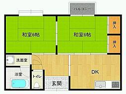 高寺文化[2階]の間取り