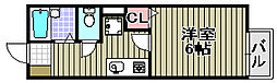 大阪府泉佐野市大西2丁目の賃貸アパートの間取り