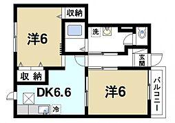 カーサプラシード[1階]の間取り
