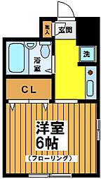 東京都世田谷区赤堤5丁目の賃貸アパートの間取り