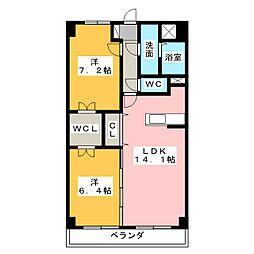サンフォレスト MW[6階]の間取り