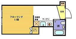 ヴェール横浜[221号室]の間取り