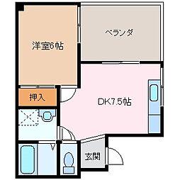 ラピュタビル[3階]の間取り