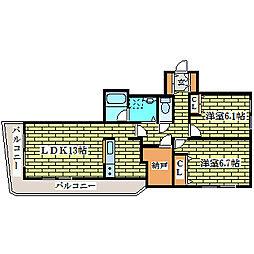 エクセラン・ノール[3階]の間取り