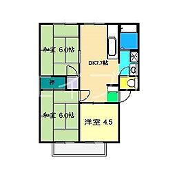 アビタシオン・高見B棟[2階]の間取り