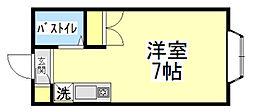 藤間コーポ1[1階]の間取り