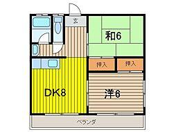 新井ハイツ[2階]の間取り