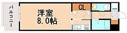 エステートモア天神STUDIO A[6階]の間取り