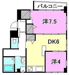 グランドスタジオ5[402 号室号室]の間取り