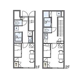 レオパレスコルティーレ[2階]の間取り