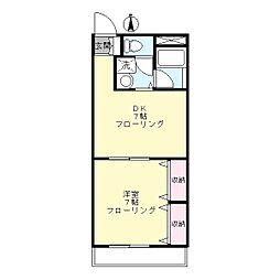 稲山弐番館[302号室]の間取り